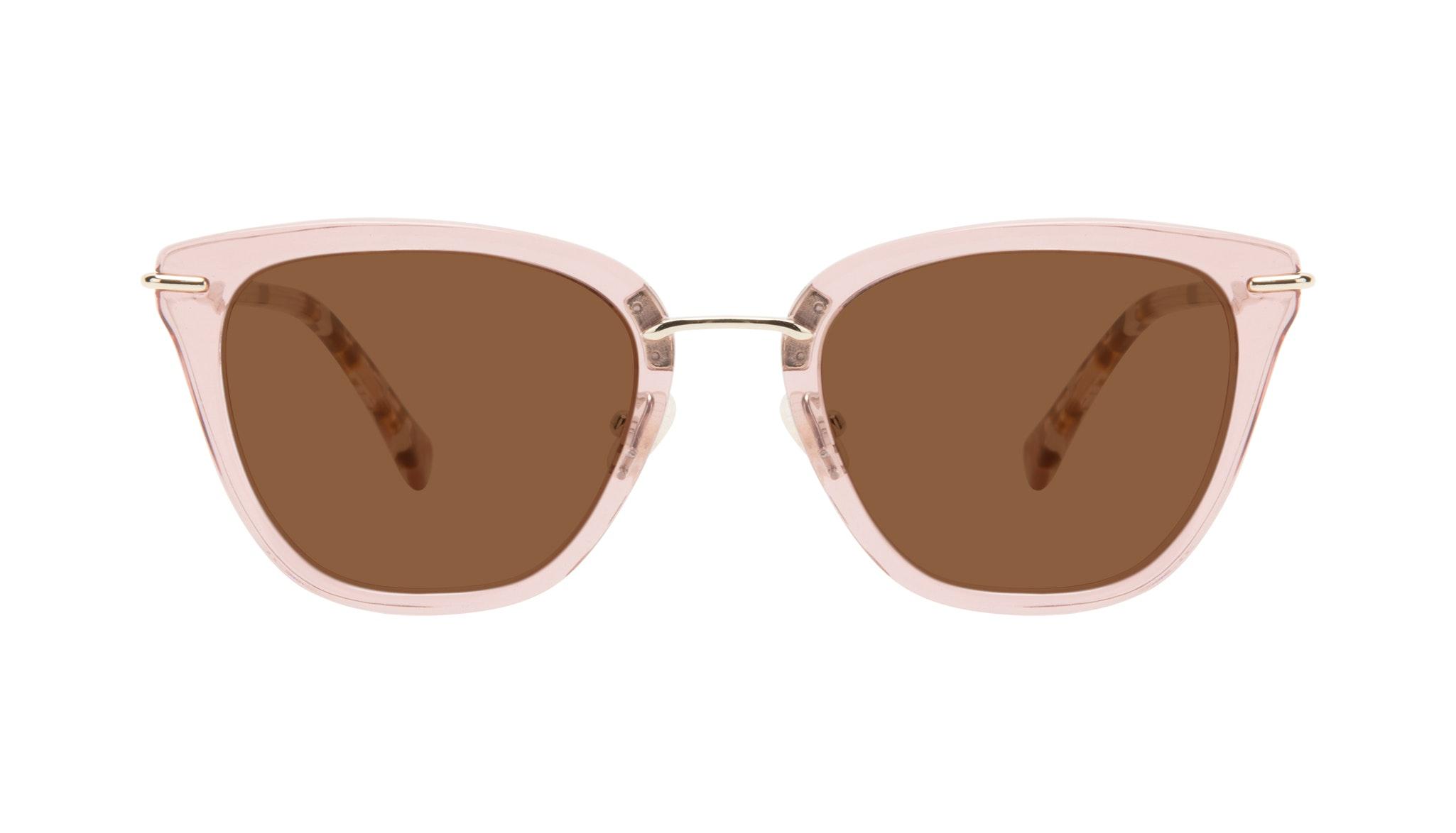 Affordable Fashion Glasses Square Sunglasses Women Flirt Rose Front