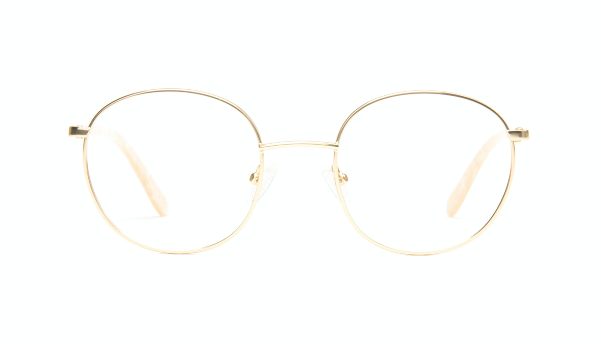 Affordable Fashion Glasses Round Eyeglasses Women Joy Gold Marble Front
