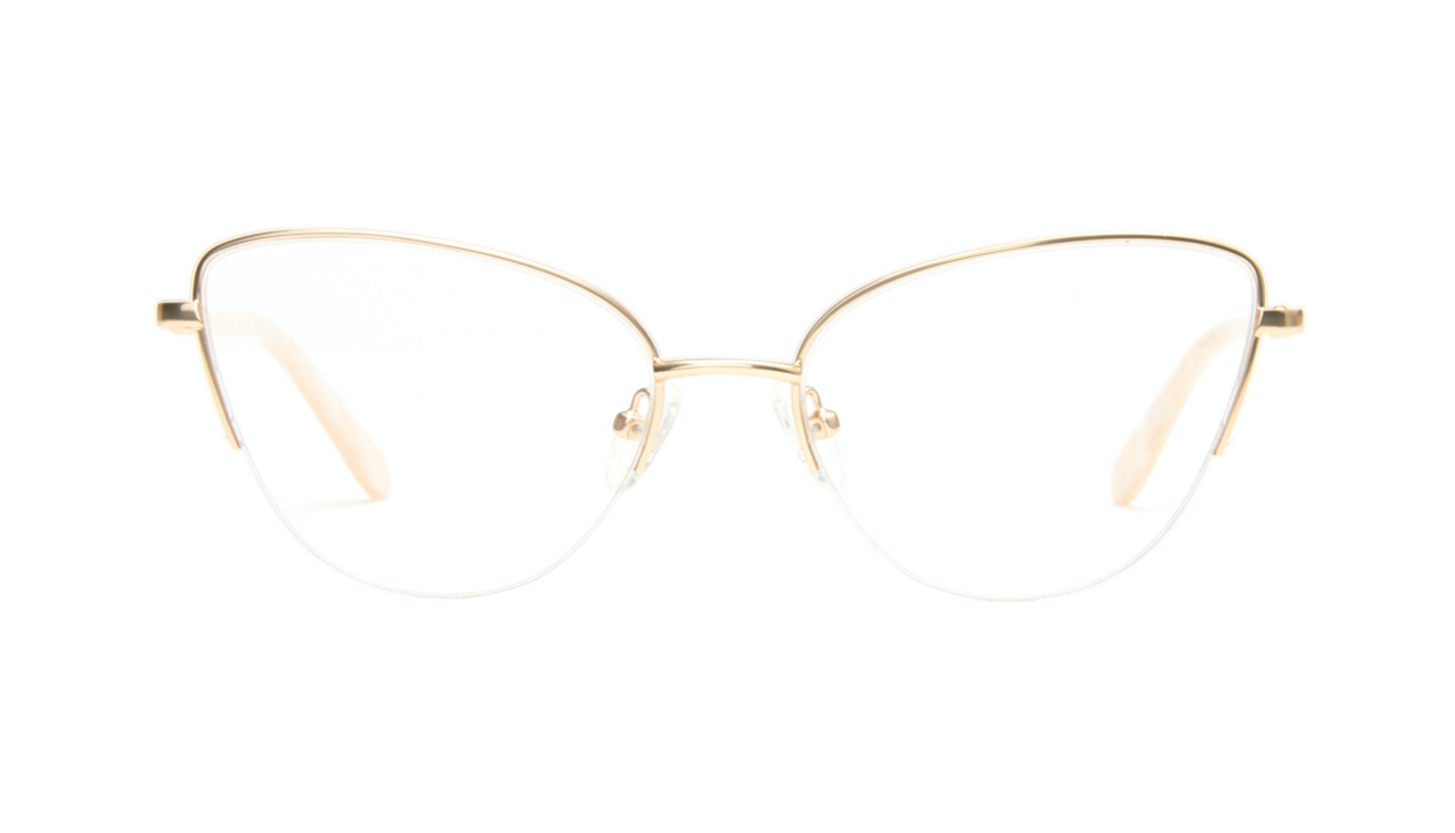 Affordable Fashion Glasses Cat Eye Eyeglasses Women Airy  Gold Marble Front