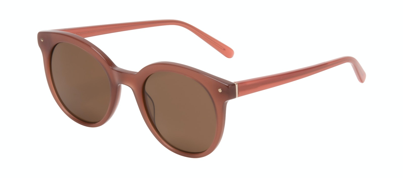Affordable Fashion Glasses Round Sunglasses Women Hip Toffee Tilt