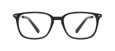 Affordable Fashion Glasses Rectangle Eyeglasses Men Sharp Matte Black Front