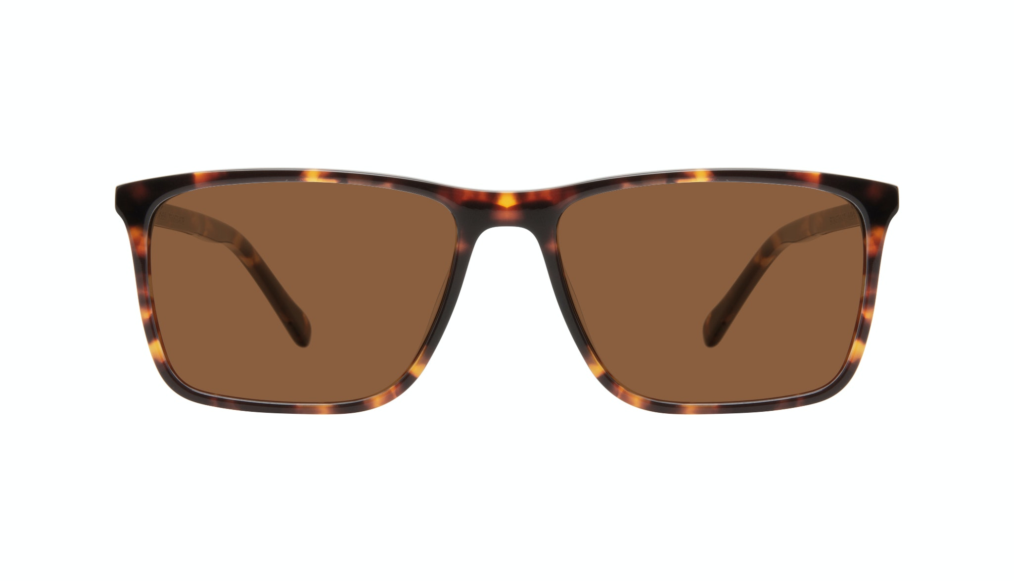 Affordable Fashion Glasses Rectangle Sunglasses Men Skill Tortoise Front