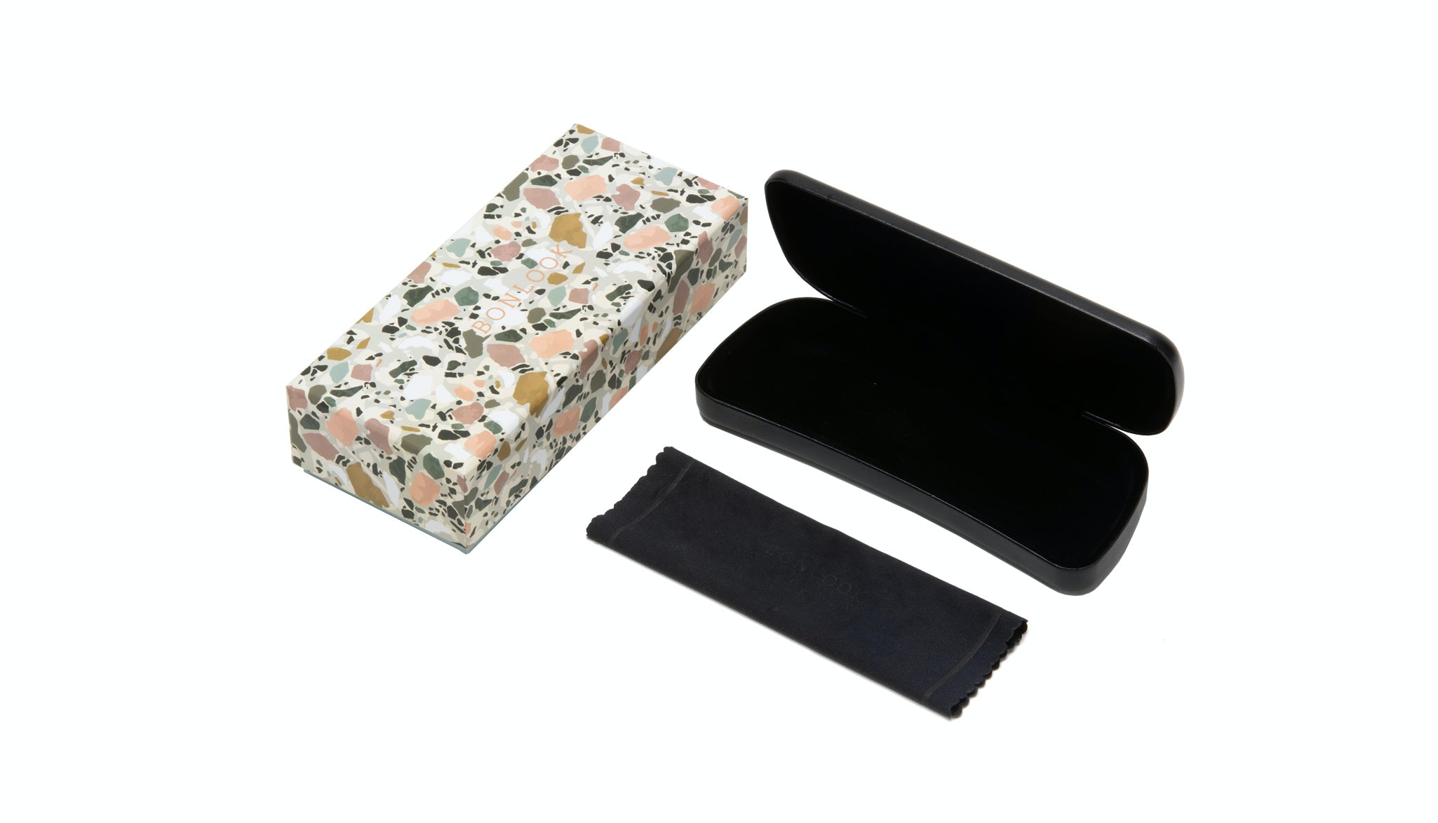 Affordable Fashion Glasses Accessory Men Women Classic Bonlook Case Terrazzo