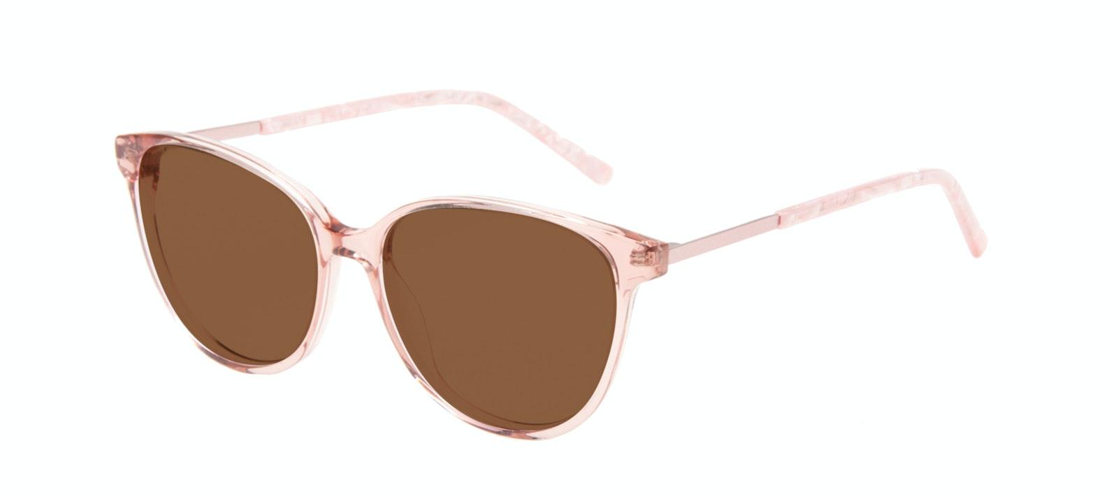 Lunettes tendance Oeil de chat Lunettes de soleil Femmes Imagine II Rose Marble Incliné