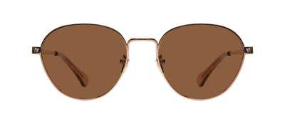 Affordable Fashion Glasses Round Sunglasses Women Brace Rose Gold Front