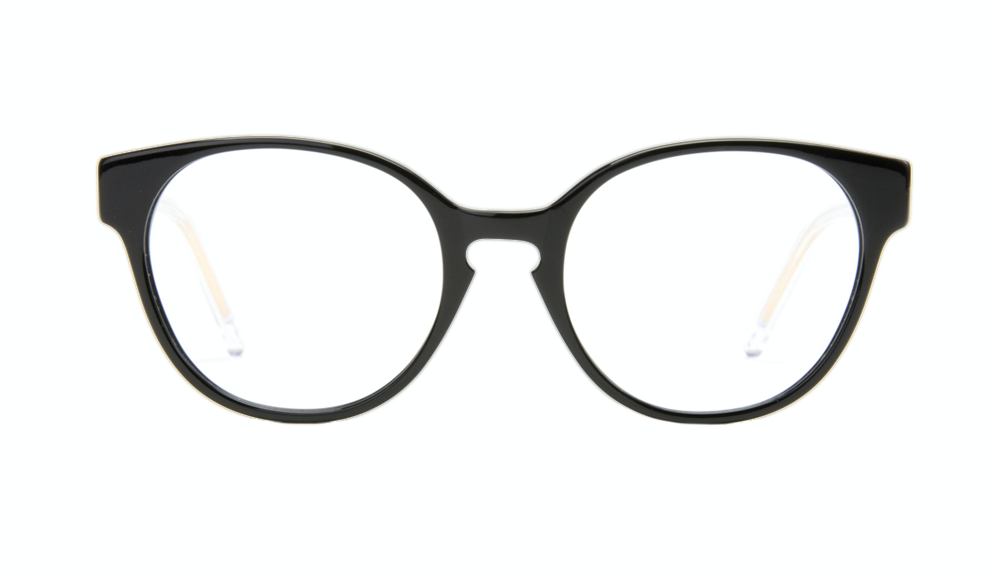 Affordable Fashion Glasses Round Eyeglasses Women Winsome Black Copper Front