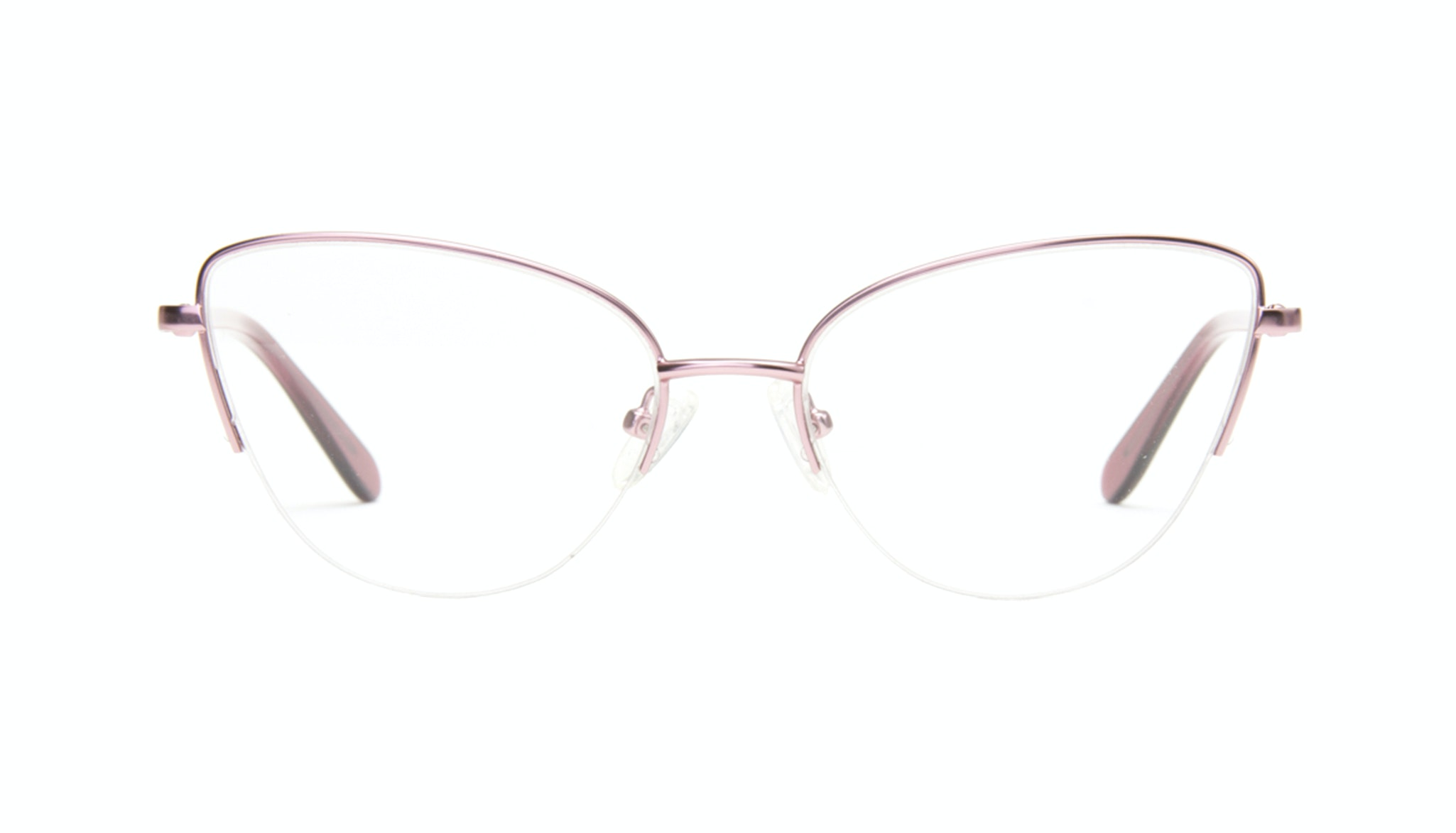 Affordable Fashion Glasses Cat Eye Semi-Rimless Eyeglasses Women Airy  Rose Marble