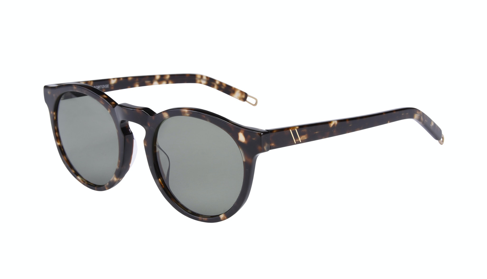 Affordable Fashion Glasses Round Sunglasses Men Ace Tortoise Tilt