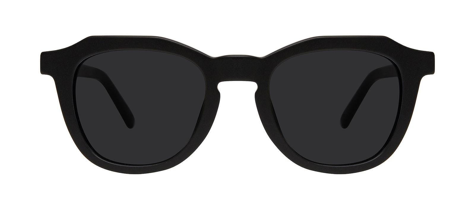 Affordable Fashion Glasses Square Sunglasses Men Action Matte Black Front
