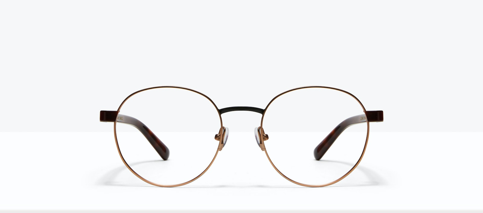Affordable Fashion Glasses Round Eyeglasses Men Alter Dark Brass Front