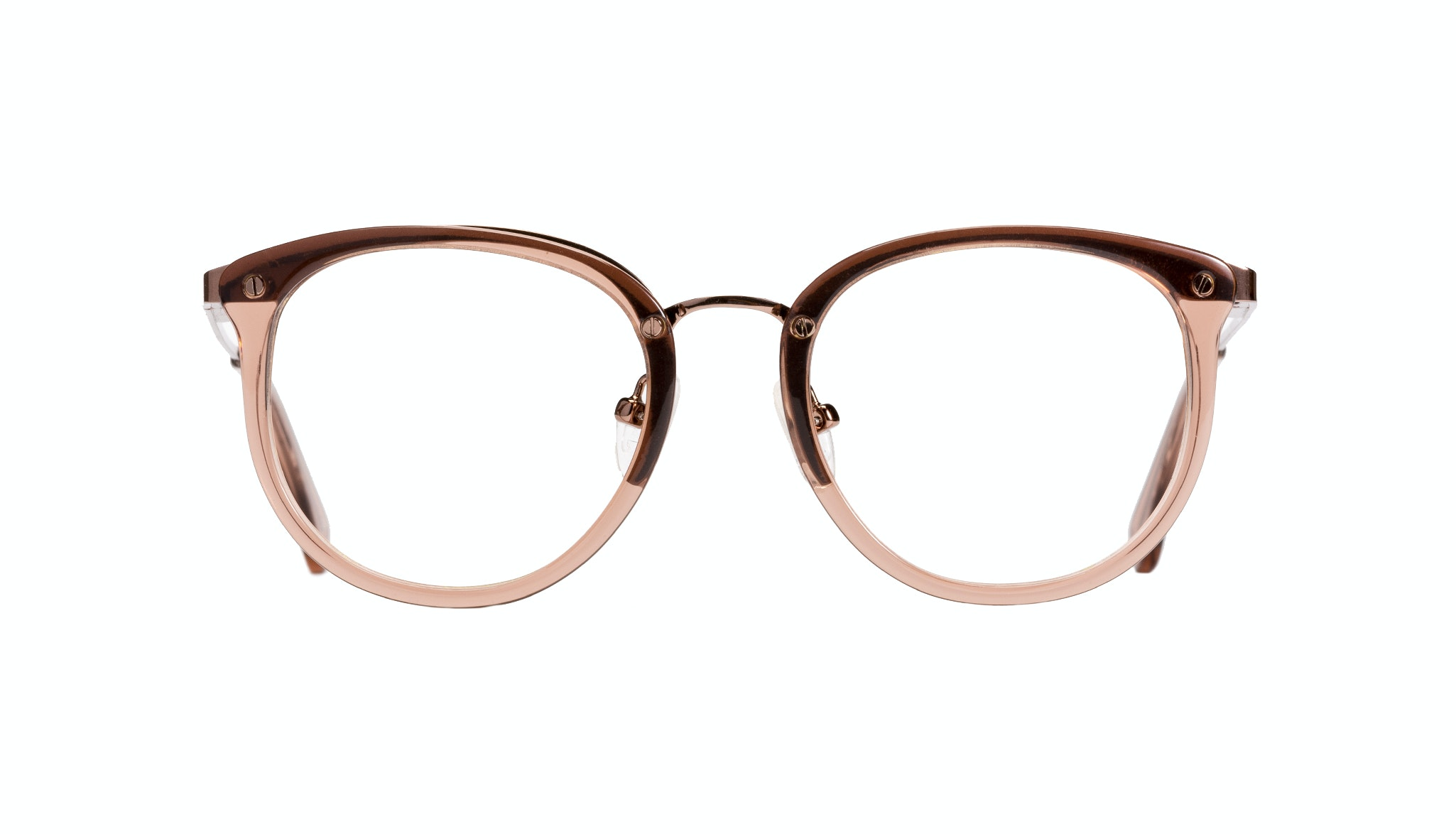 Affordable Fashion Glasses Cat Eye Round Eyeglasses Women Amaze Petite Rose