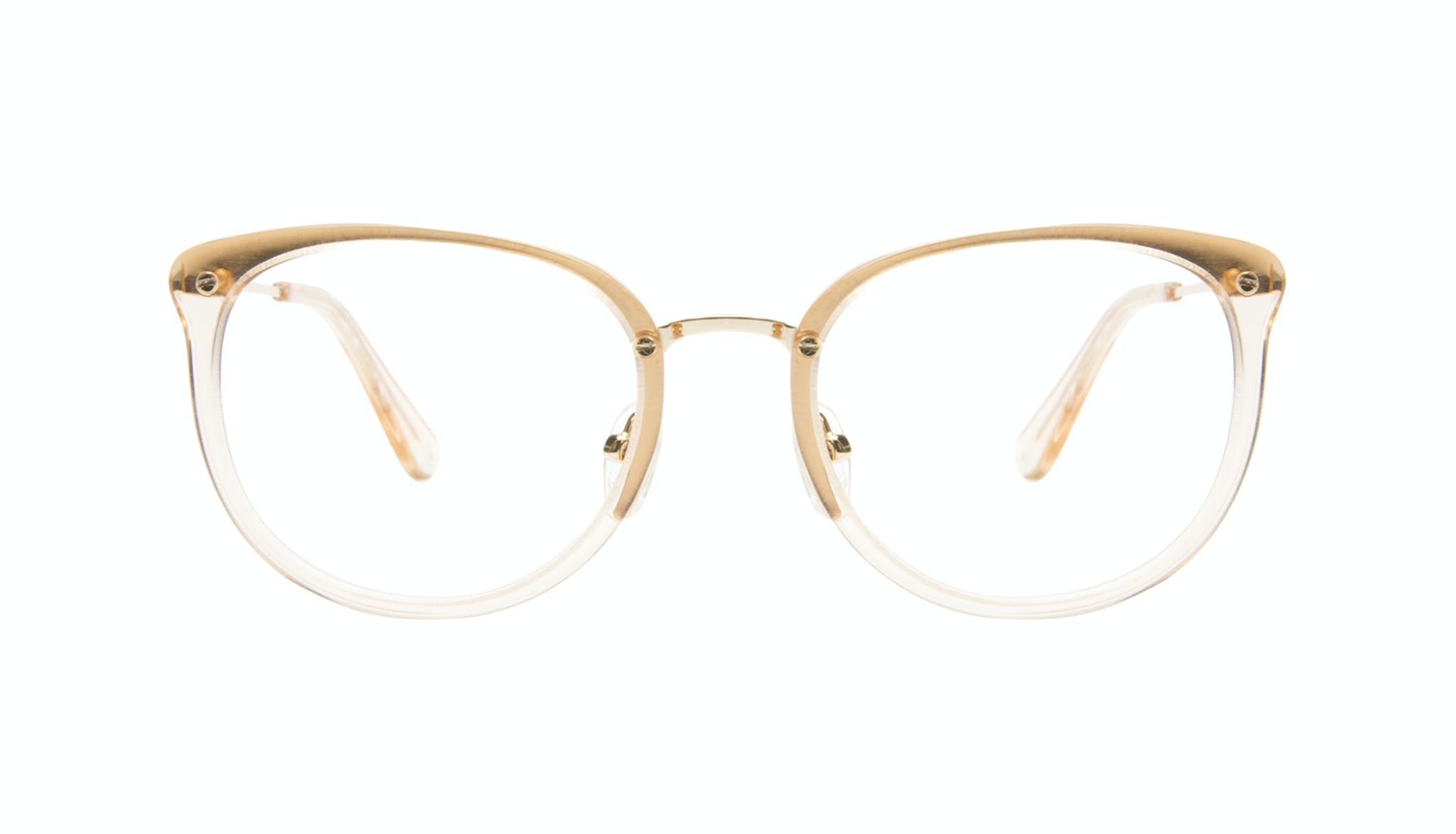 Affordable Fashion Glasses Square Round Eyeglasses Women Amaze Blond Metal
