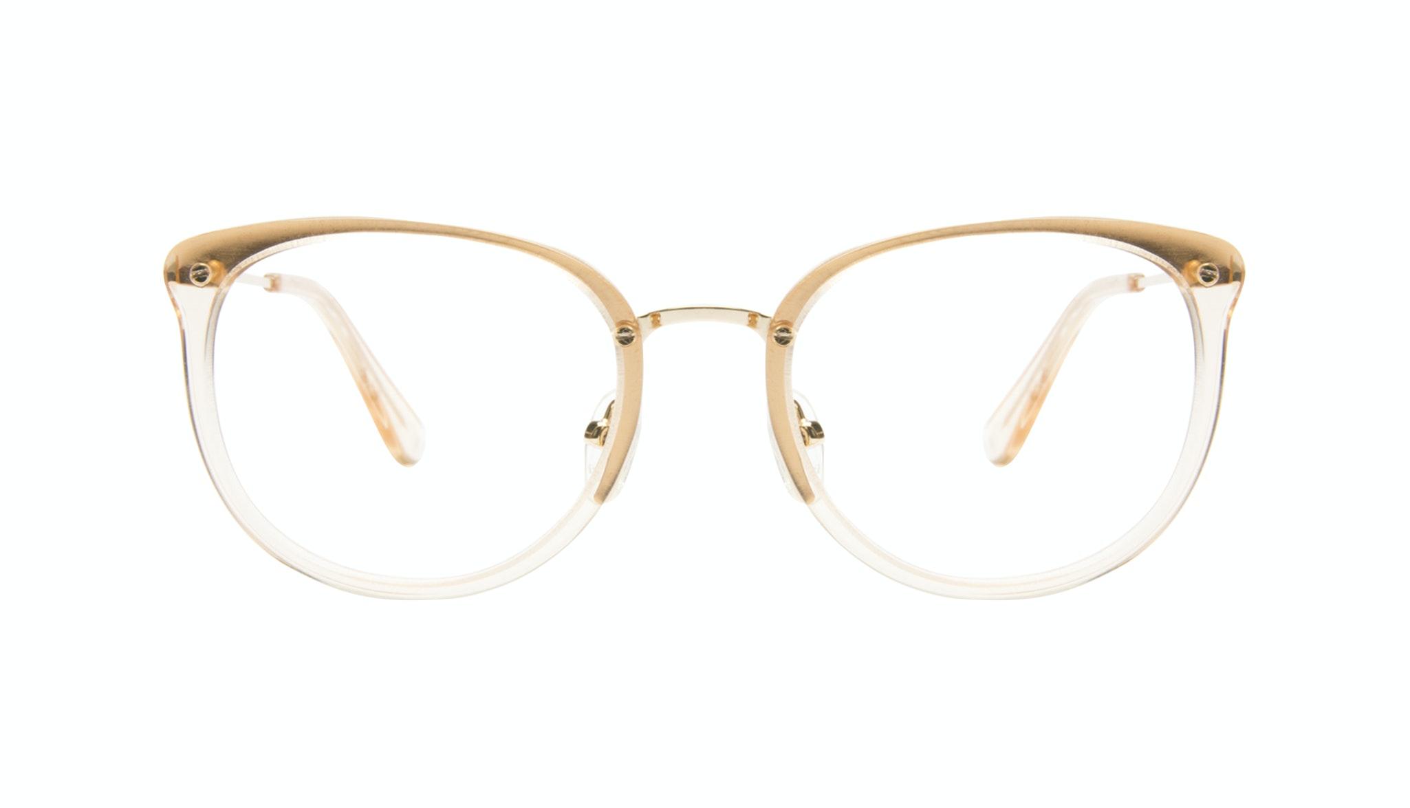 Affordable Fashion Glasses Square Round Eyeglasses Women Amaze Blond Metal Front