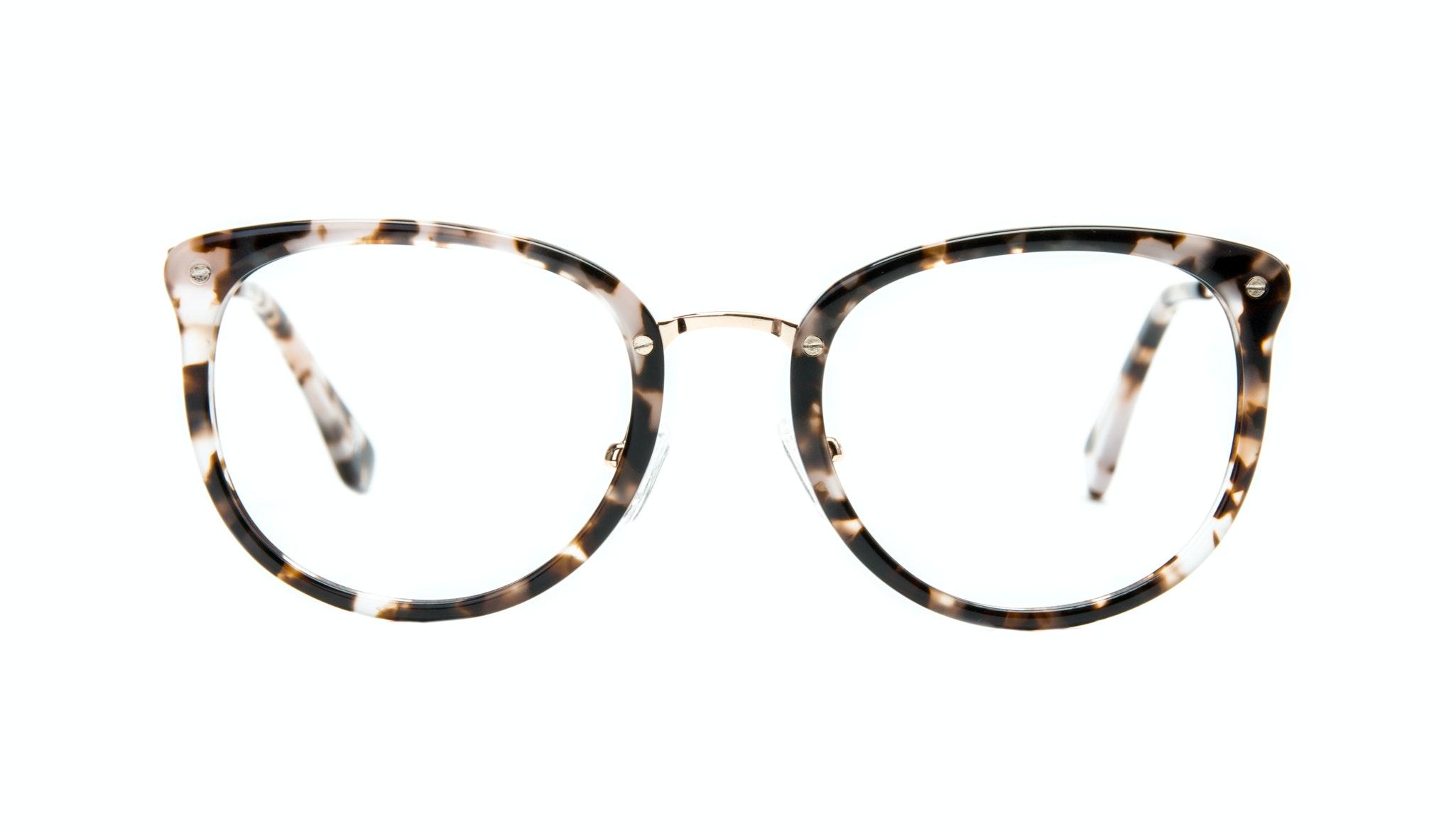 Affordable Fashion Glasses Square Round Eyeglasses Women Amaze Mocha Tortoise Front