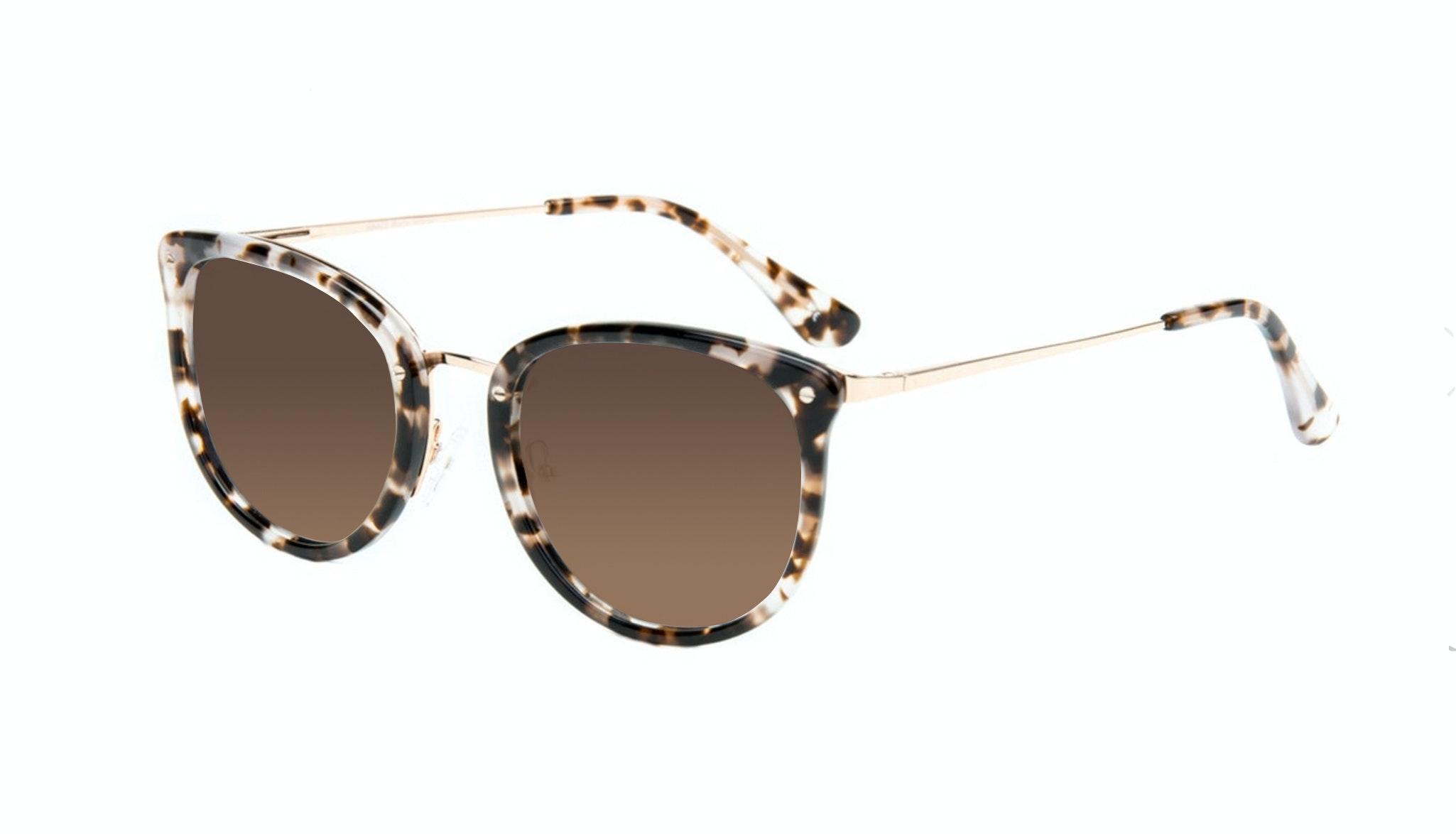 Affordable Fashion Glasses Square Round Sunglasses Women Amaze Mocha Tortoise Tilt