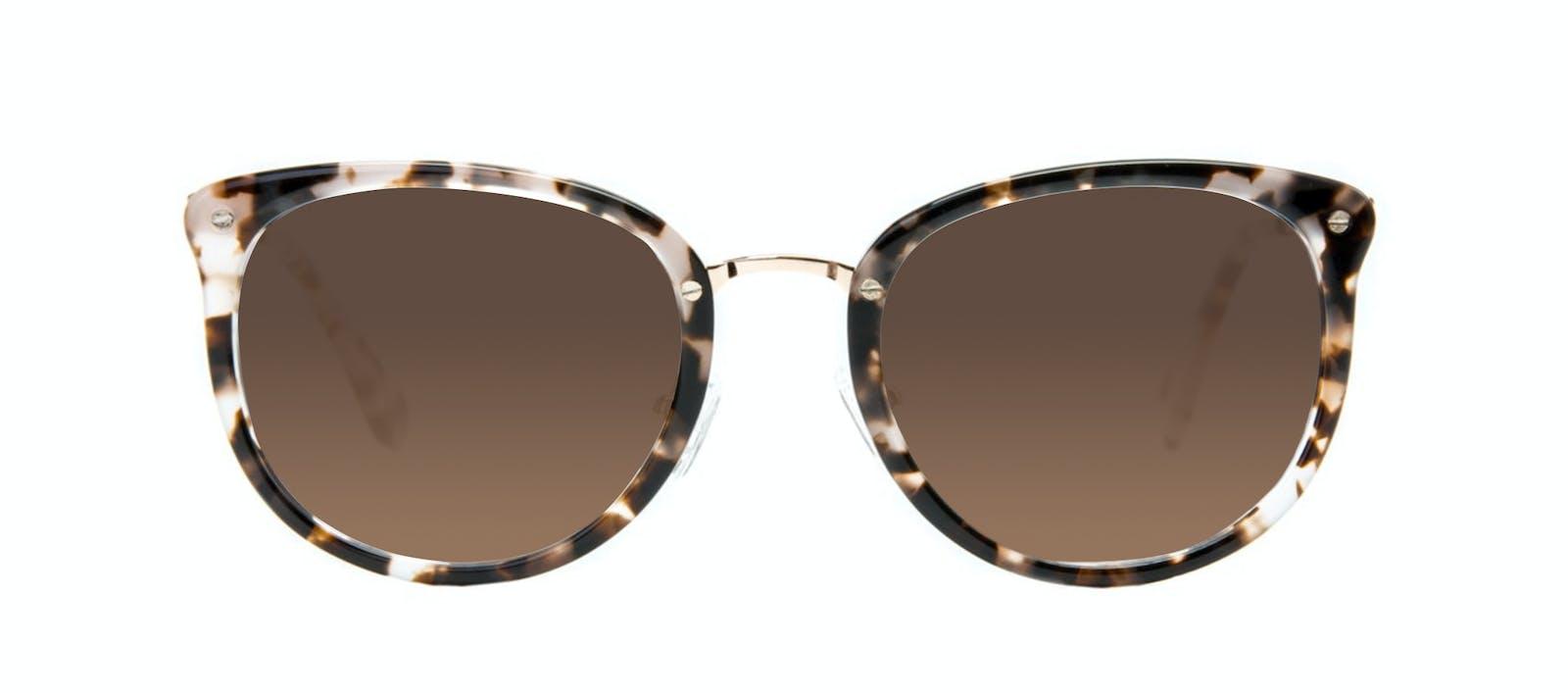 0f2f8d10ba Affordable Fashion Glasses Square Round Sunglasses Women Amaze Mocha  Tortoise Front