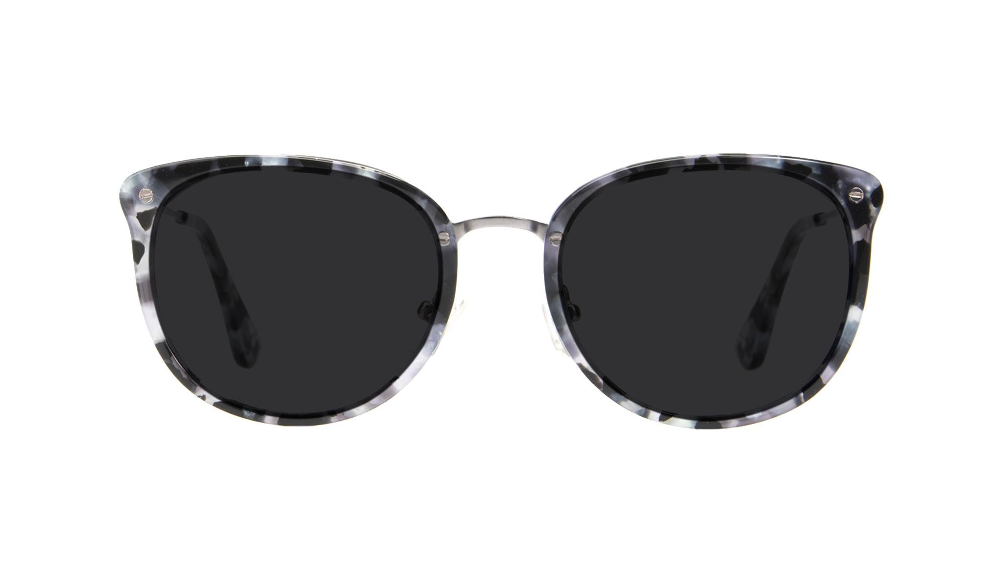 Affordable Fashion Glasses Square Round Sunglasses Women Amaze Silver Flake