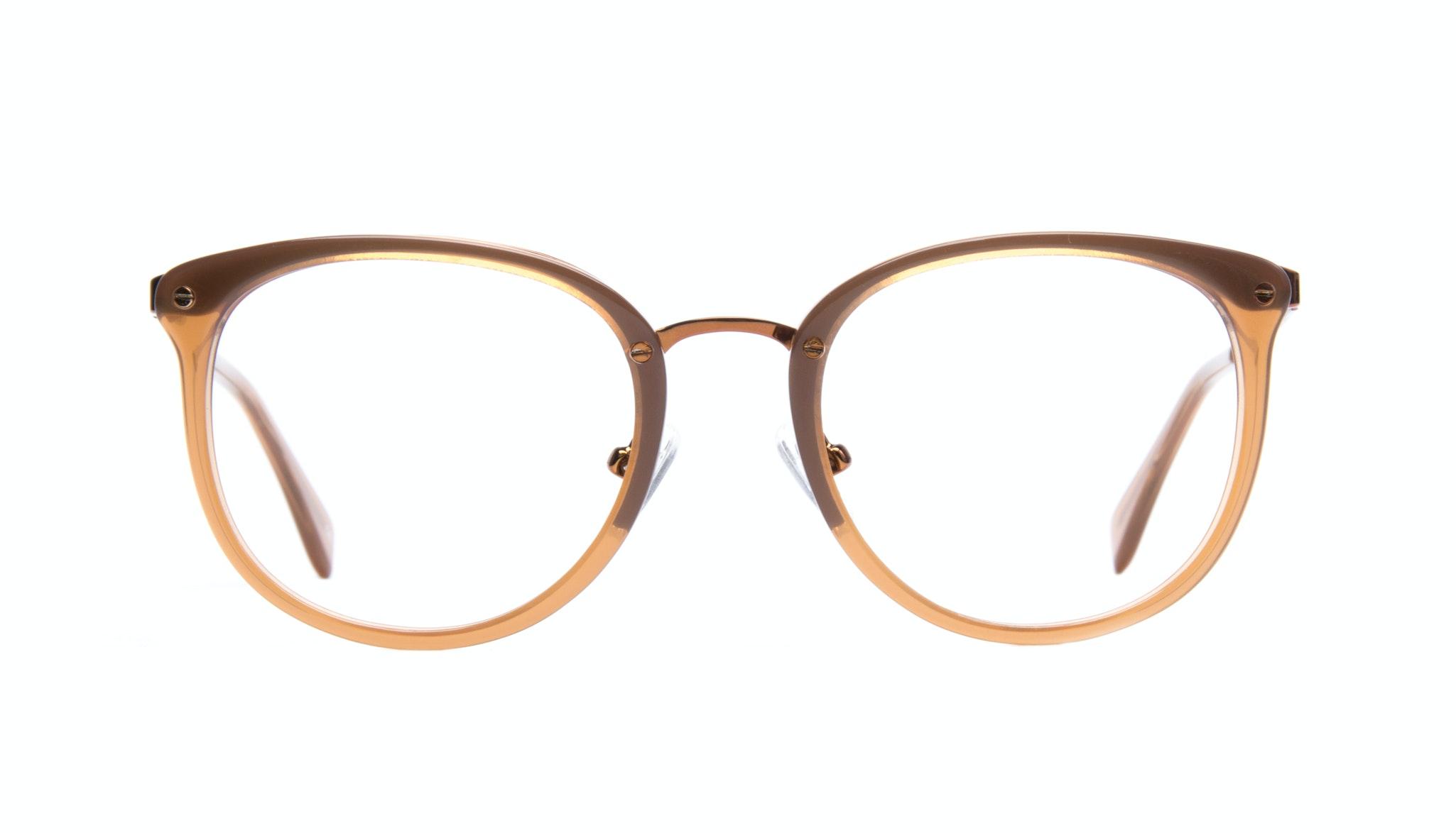 Affordable Fashion Glasses Round Eyeglasses Women Amaze Tan