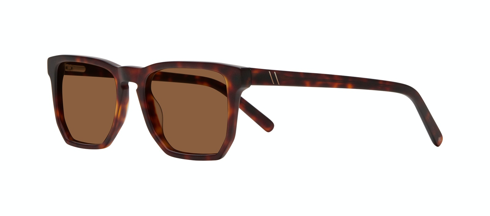 Affordable Fashion Glasses Square Sunglasses Men Andy Matte Tortoise Tilt