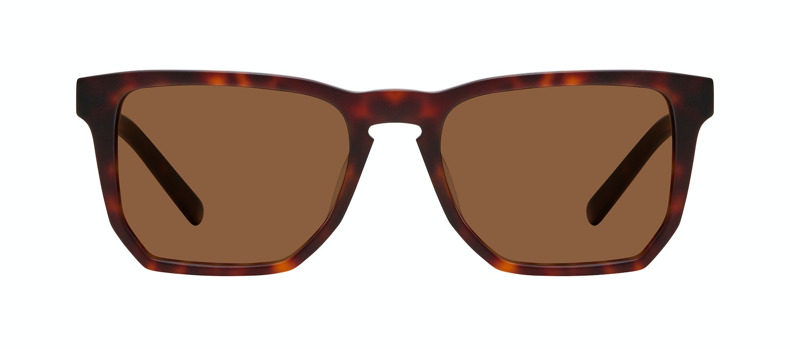 Affordable Fashion Glasses Square Sunglasses Men Andy Matte Tortoise Front