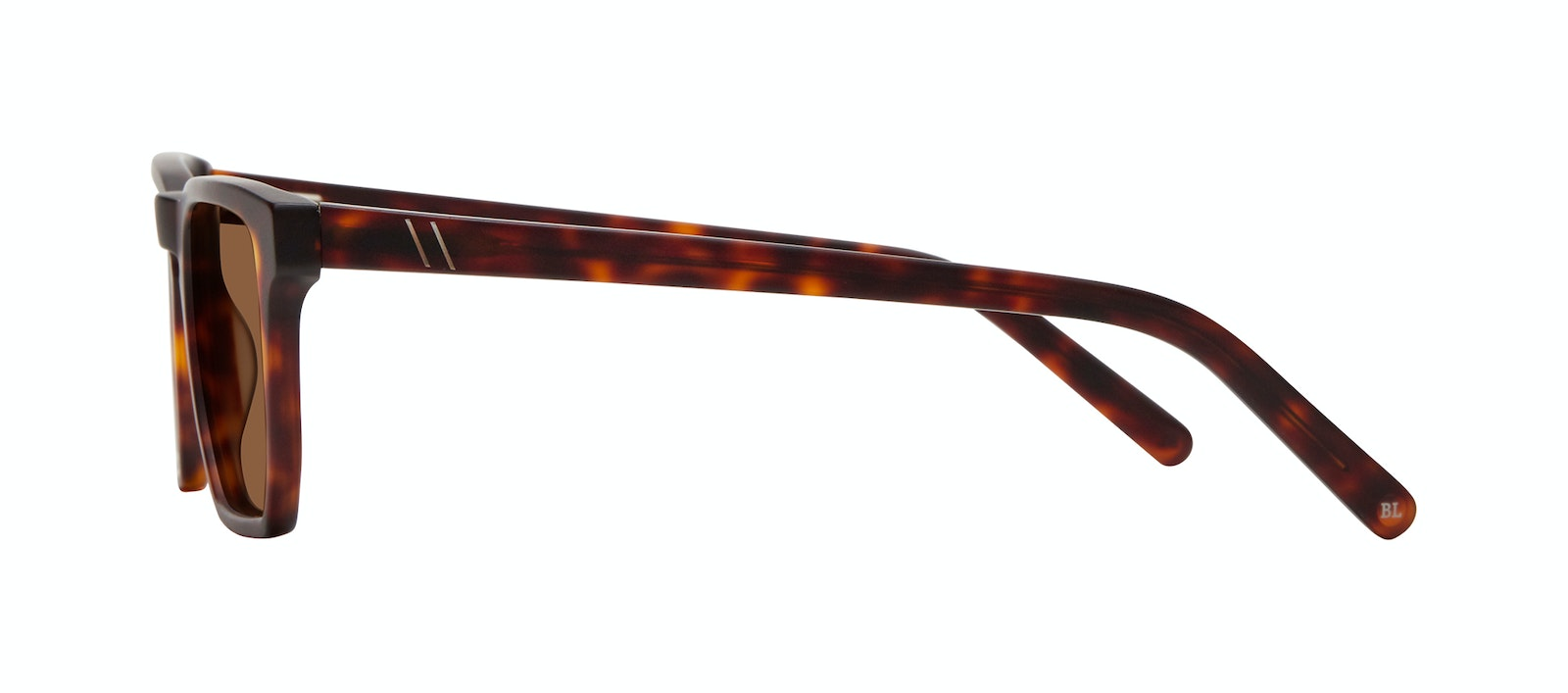 Affordable Fashion Glasses Square Sunglasses Men Andy Matte Tortoise Side