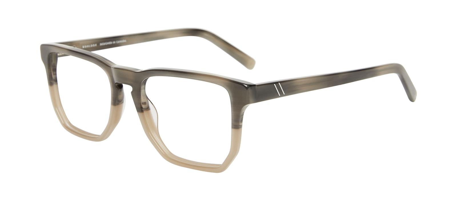 Affordable Fashion Glasses Square Eyeglasses Men Andy Two Tone Stone Tilt