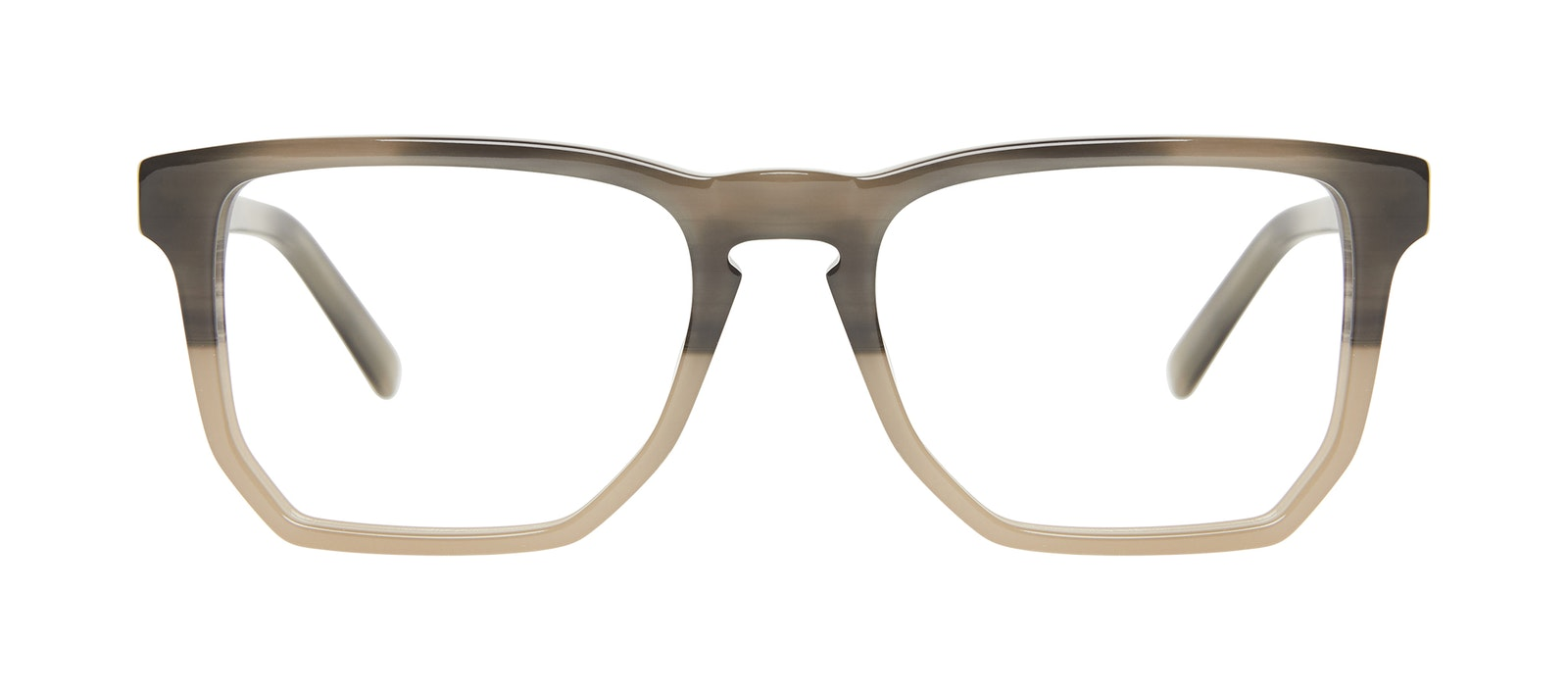 Affordable Fashion Glasses Square Eyeglasses Men Andy Two Tone Stone Front