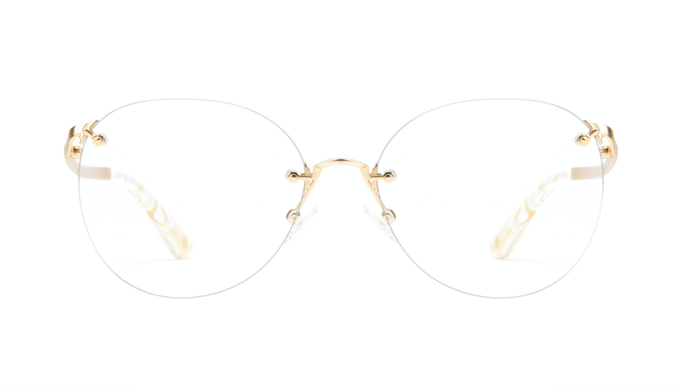Affordable Fashion Glasses Aviator Cat Eye Eyeglasses Women Anna Goldrush Front