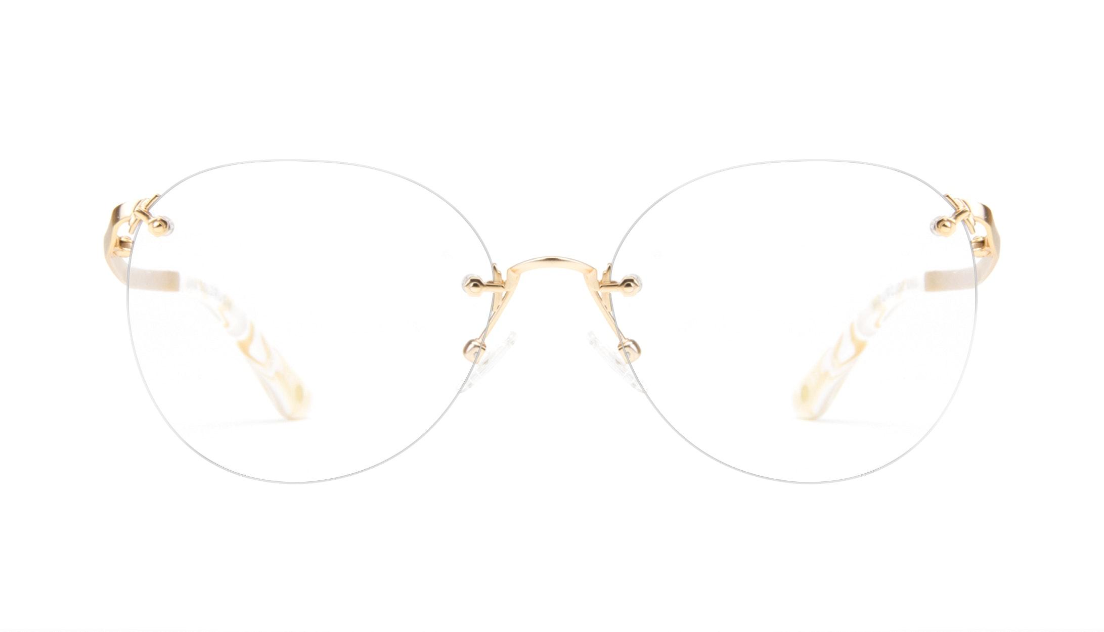 Affordable Fashion Glasses Aviator Eyeglasses Women Anna Goldrush Front
