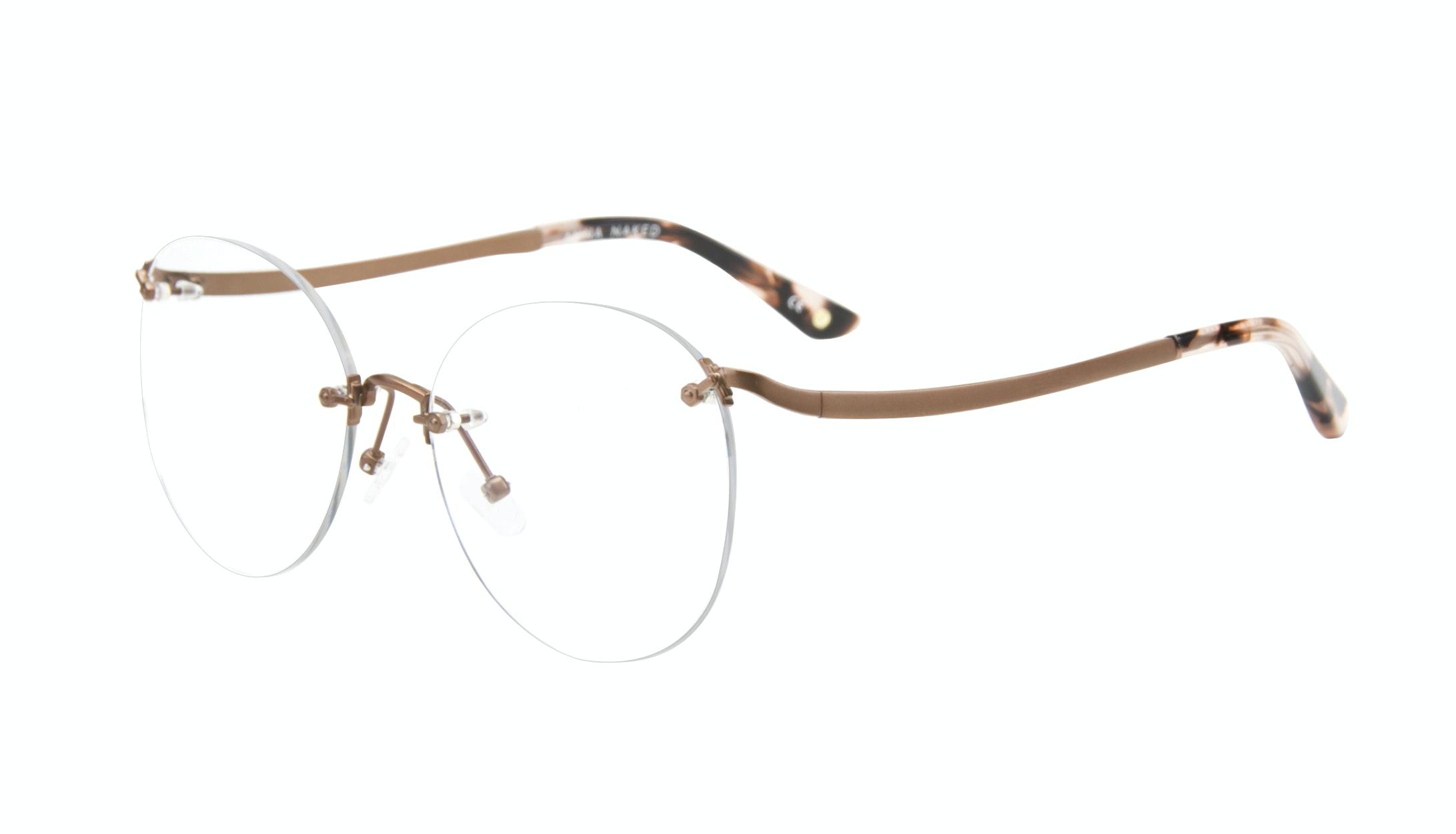 Affordable Fashion Glasses Aviator Eyeglasses Women Anna Naked Tilt