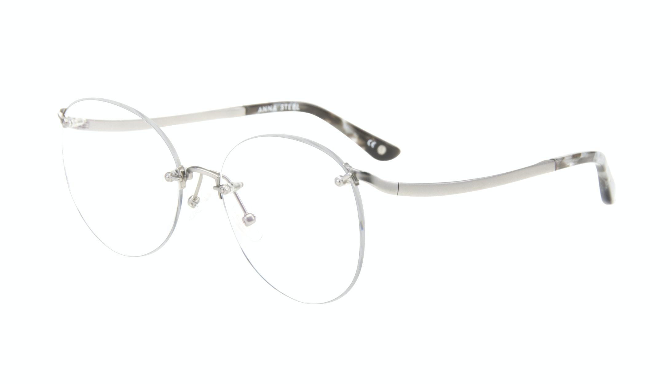 Affordable Fashion Glasses Aviator Eyeglasses Women Anna Steel Tilt