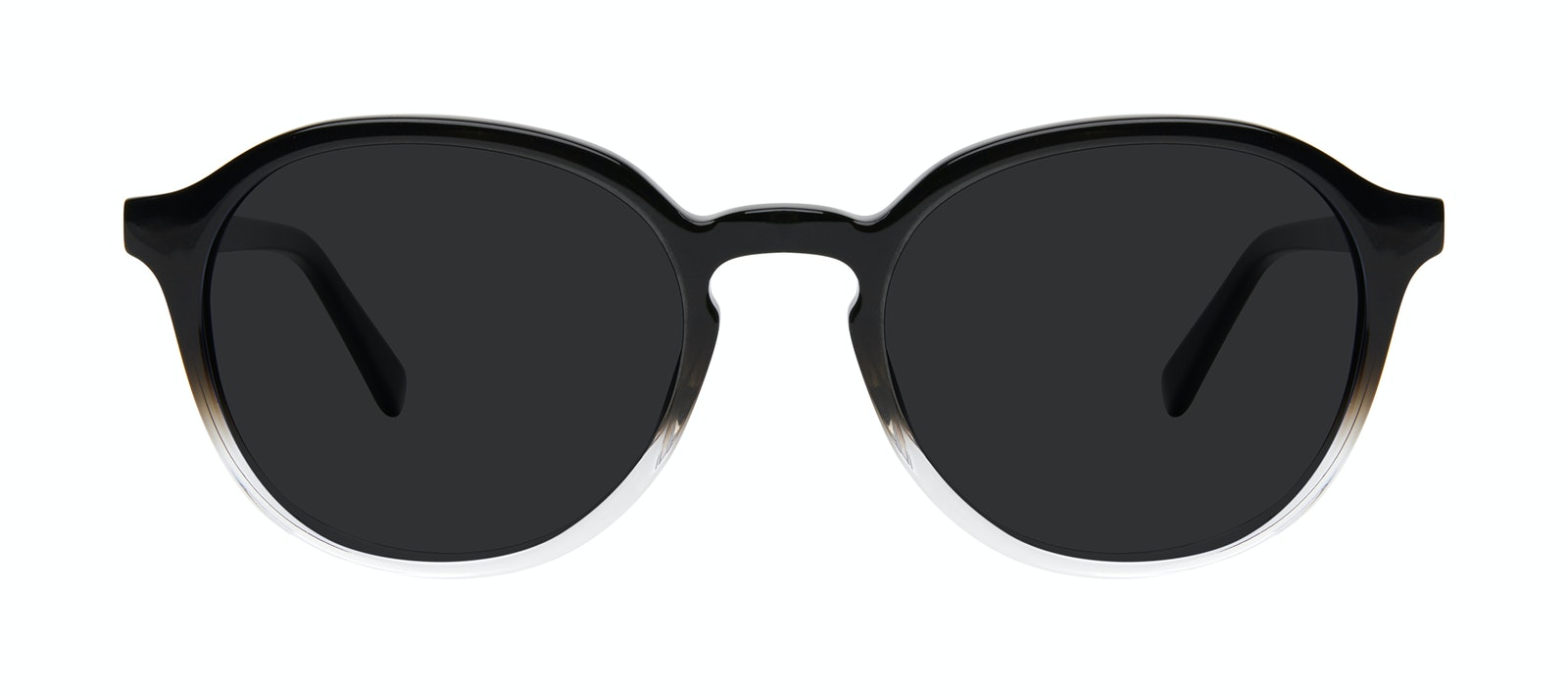 Affordable Fashion Glasses Round Sunglasses Men Ansel Onyx Clear Front