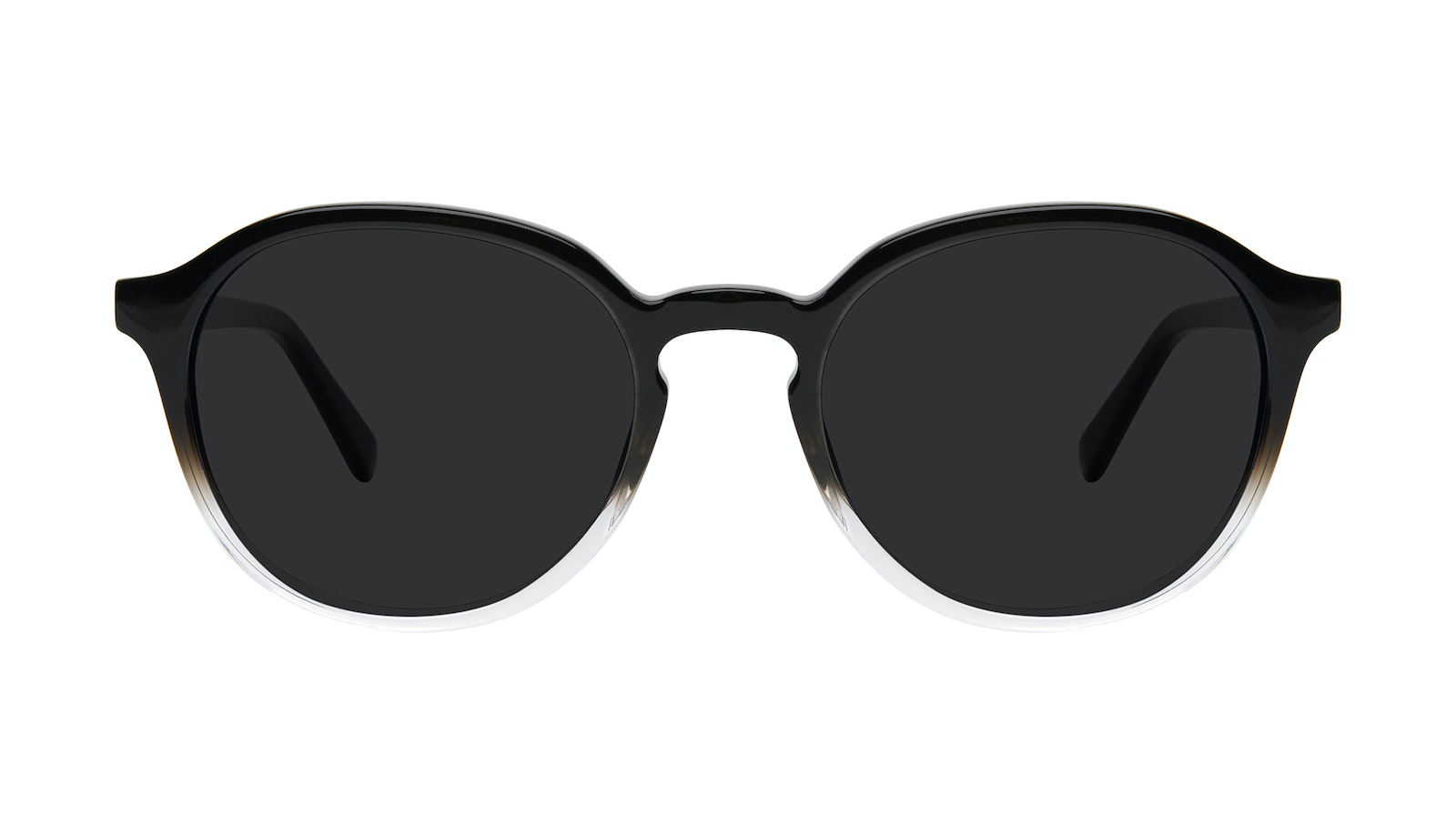 Affordable Fashion Glasses Round Sunglasses Men Ansel Onyx Clear