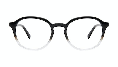 Affordable Fashion Glasses Round Eyeglasses Men Ansel Onyx Clear Front
