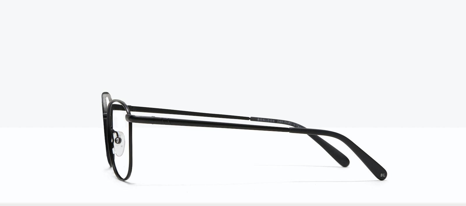 Lunettes tendance Carrée Lunettes de vue Hommes Femmes Apex S Matte Black Profil