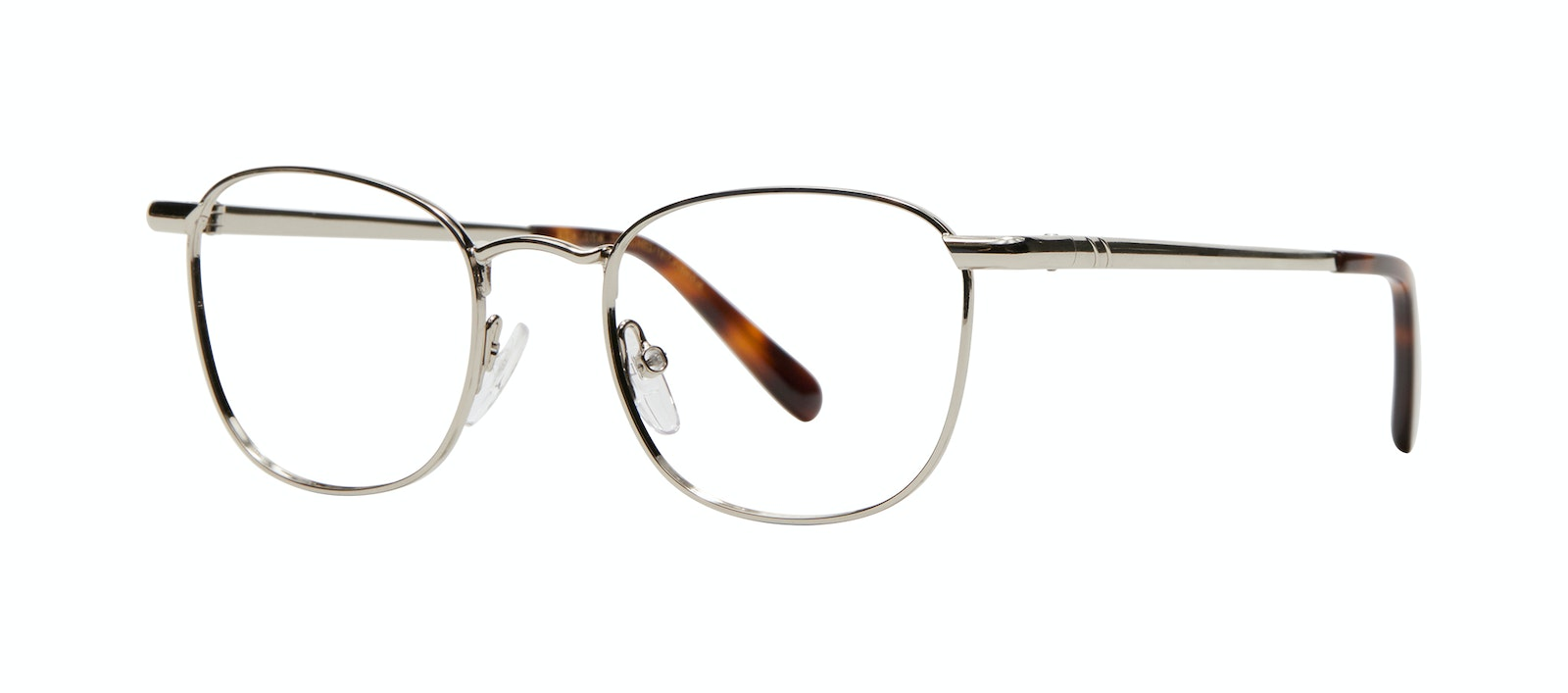 Affordable Fashion Glasses Square Eyeglasses Men Apex M Silver Tilt
