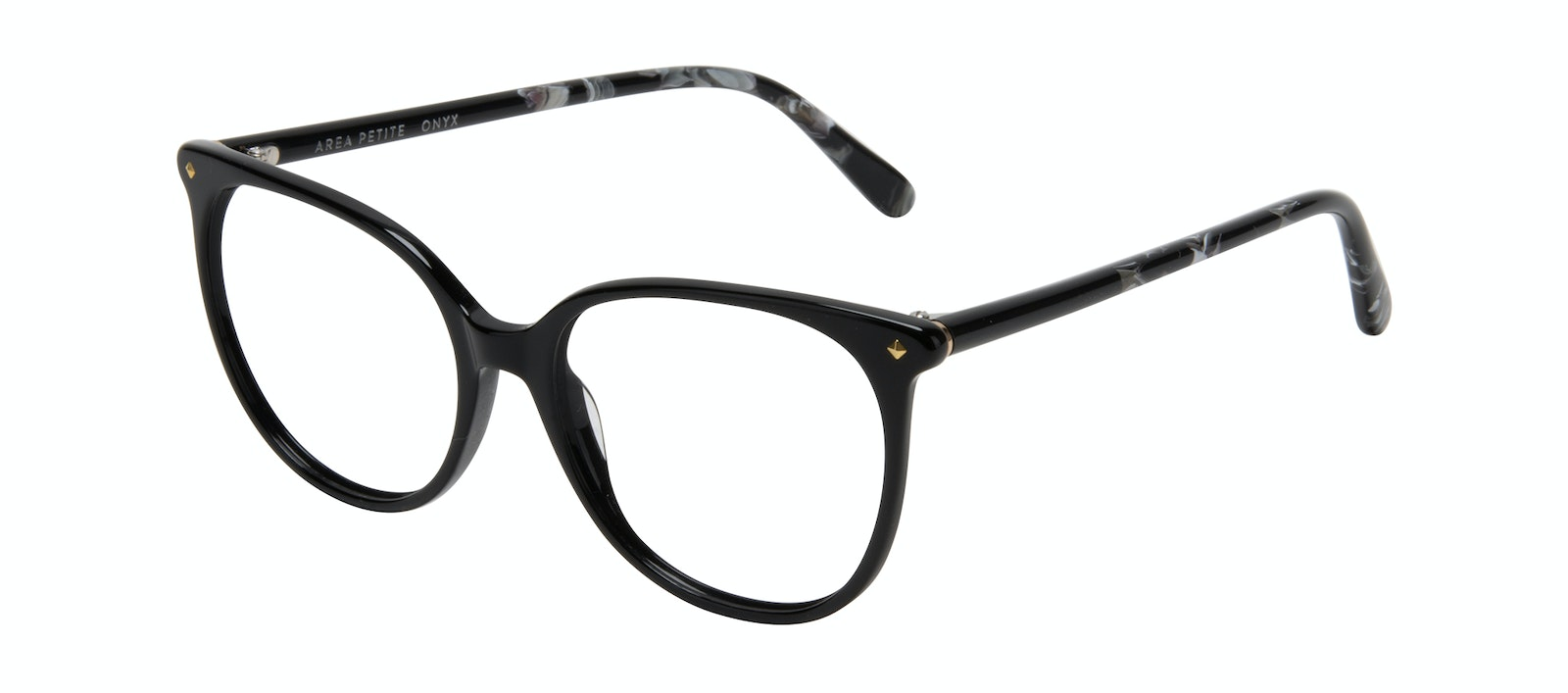 Affordable Fashion Glasses Round Eyeglasses Women Area Petite Onyx Tilt