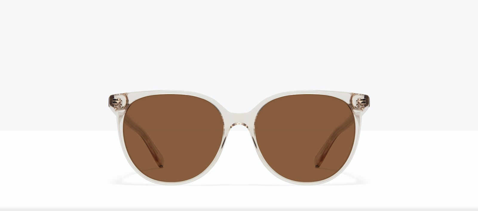 Affordable Fashion Glasses Round Sunglasses Women Area S Blond Front