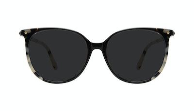 Affordable Fashion Glasses Round Sunglasses Women Area Ebony Granite Front