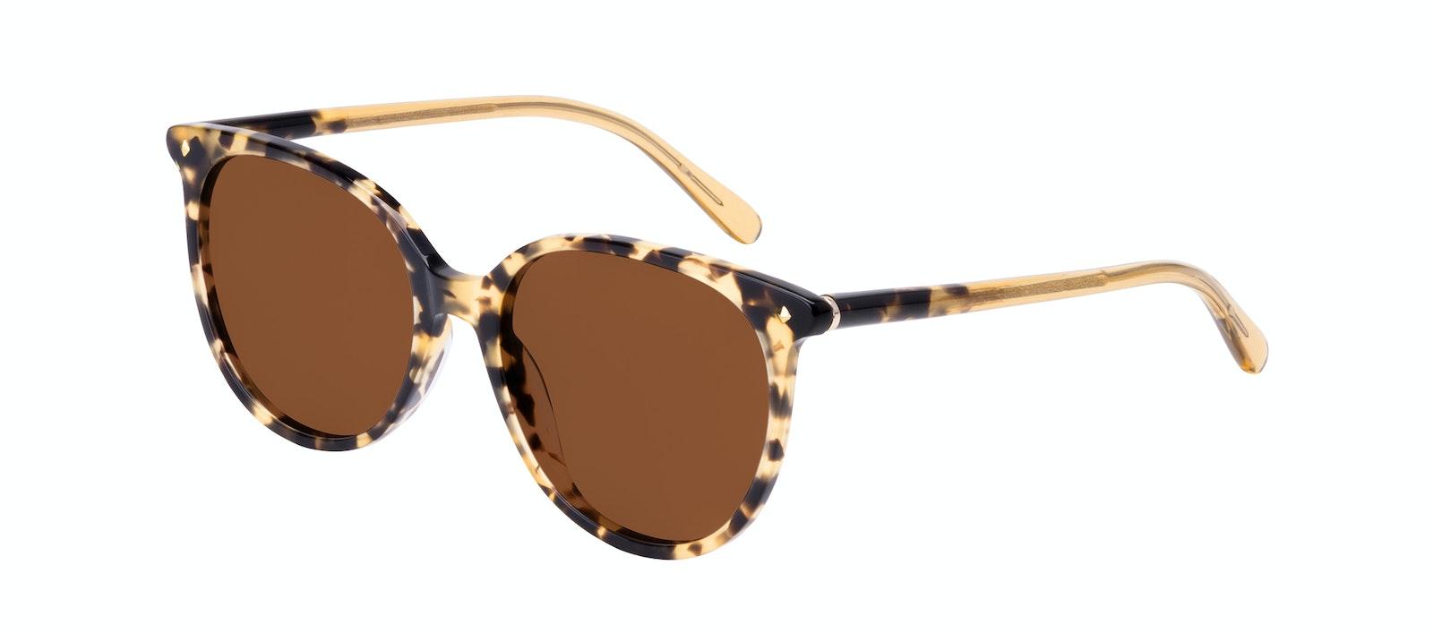 Affordable Fashion Glasses Round Sunglasses Women Area Petite Bingal Tilt