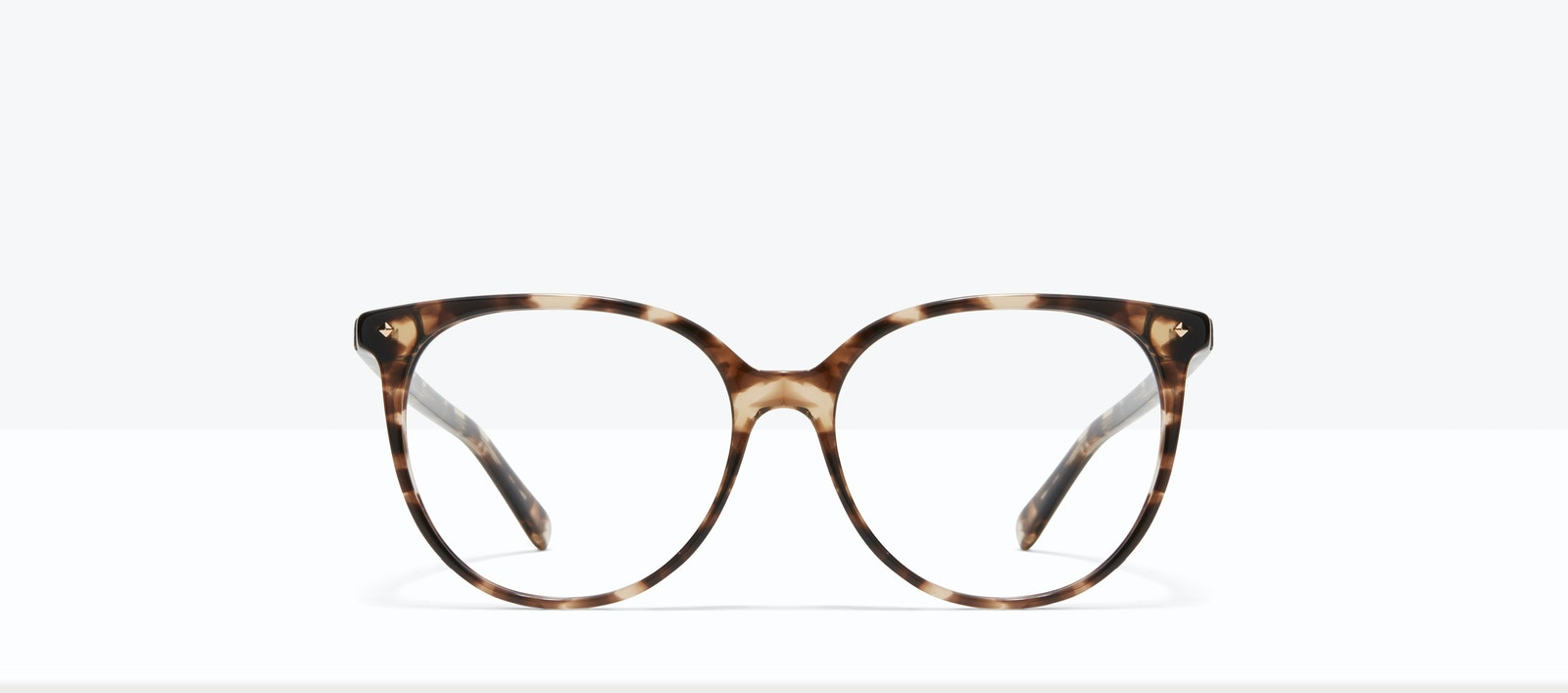 Affordable Fashion Glasses Round Eyeglasses Women Area L Leopard Front