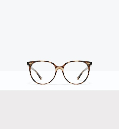 Affordable Fashion Glasses Round Eyeglasses Women Area L Leopard Front