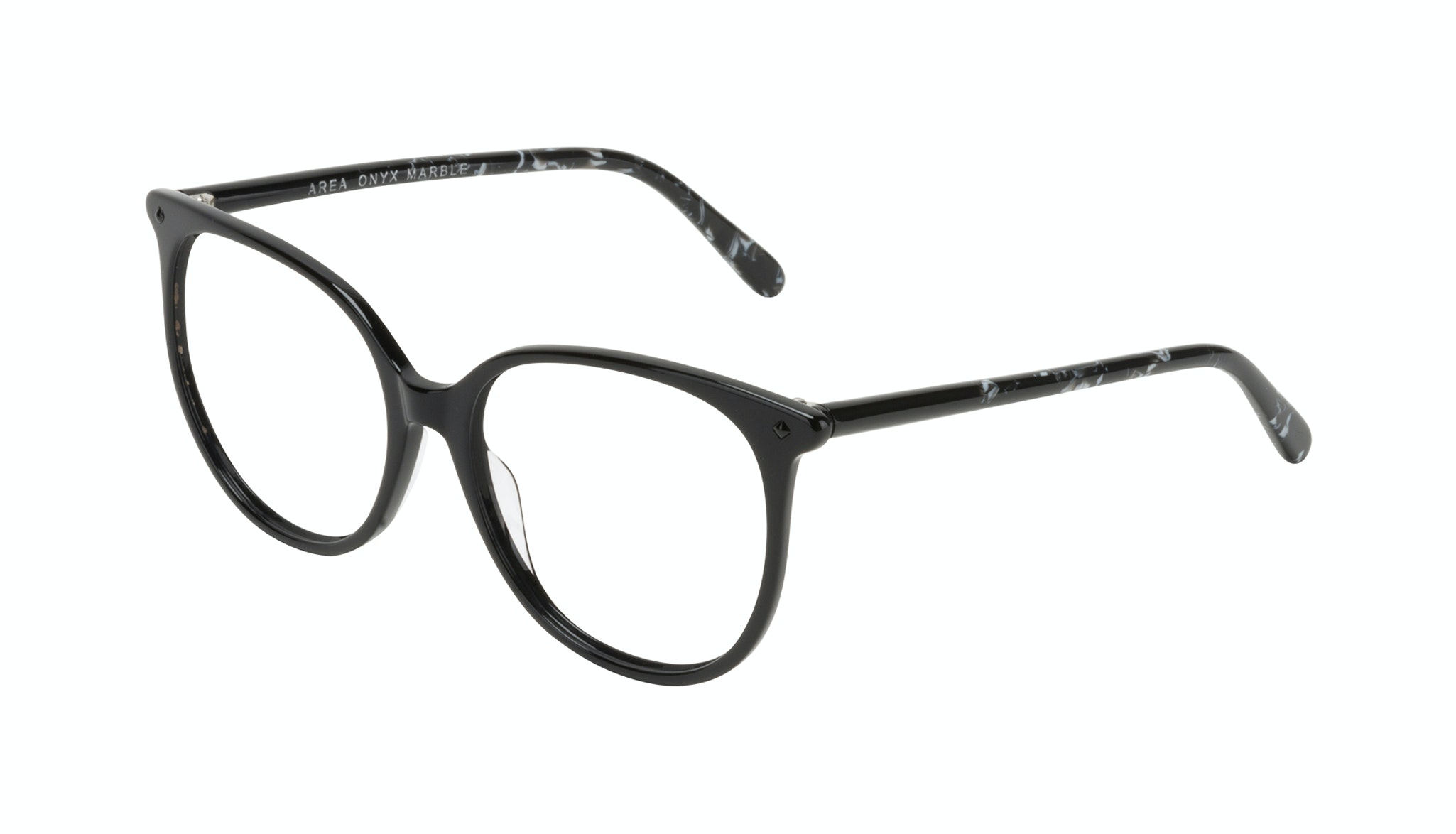 Affordable Fashion Glasses Round Eyeglasses Women Area Onyx Marble Tilt