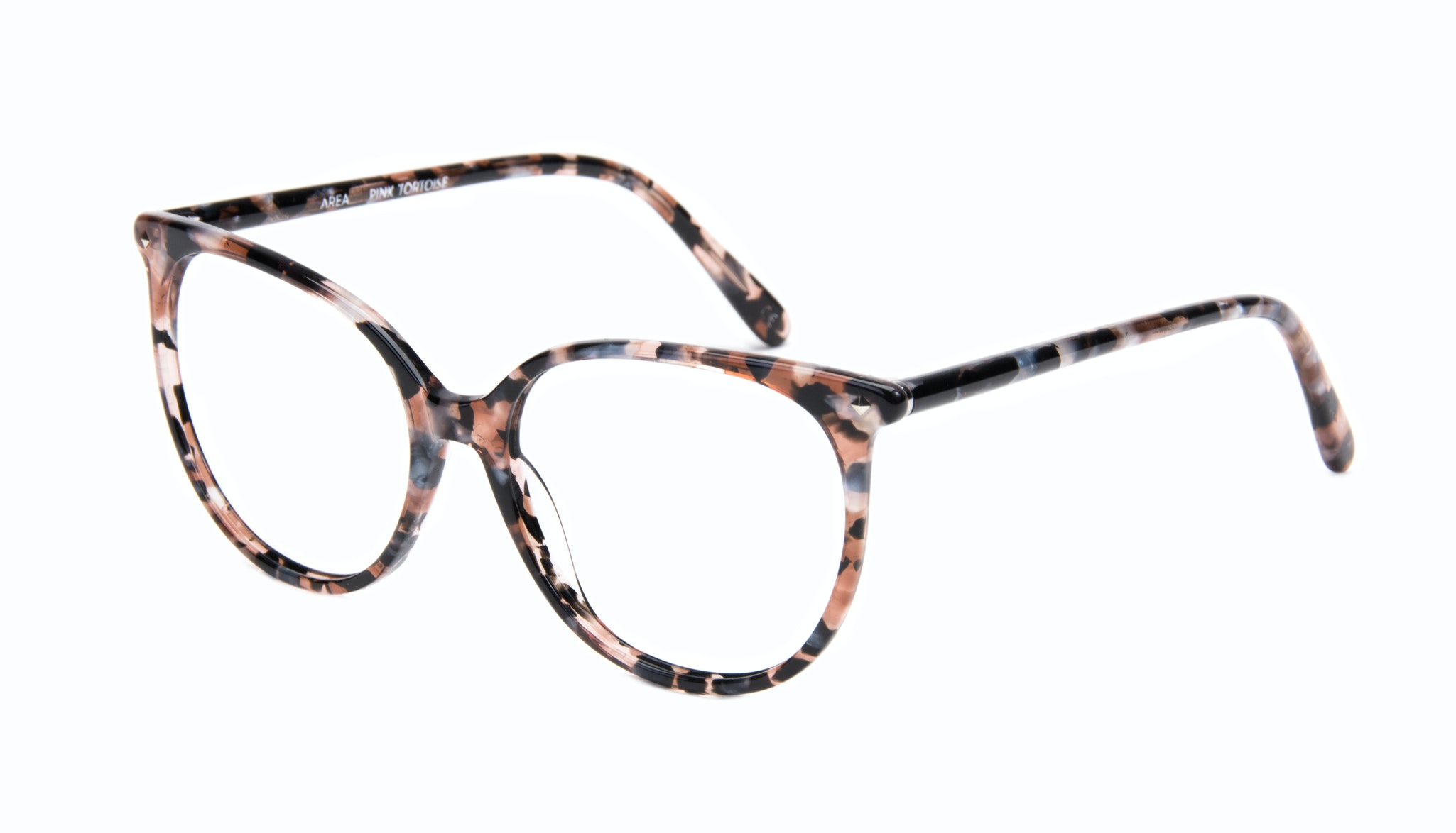 Affordable Fashion Glasses Cat Eye Square Eyeglasses Women Area Pink Tortoise Tilt