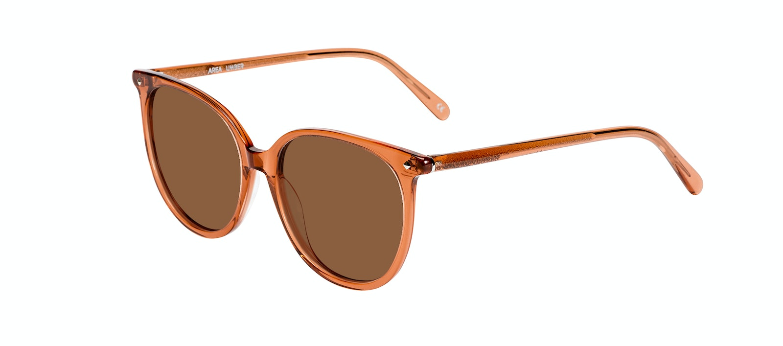 Affordable Fashion Glasses Round Sunglasses Women Area Umber Tilt