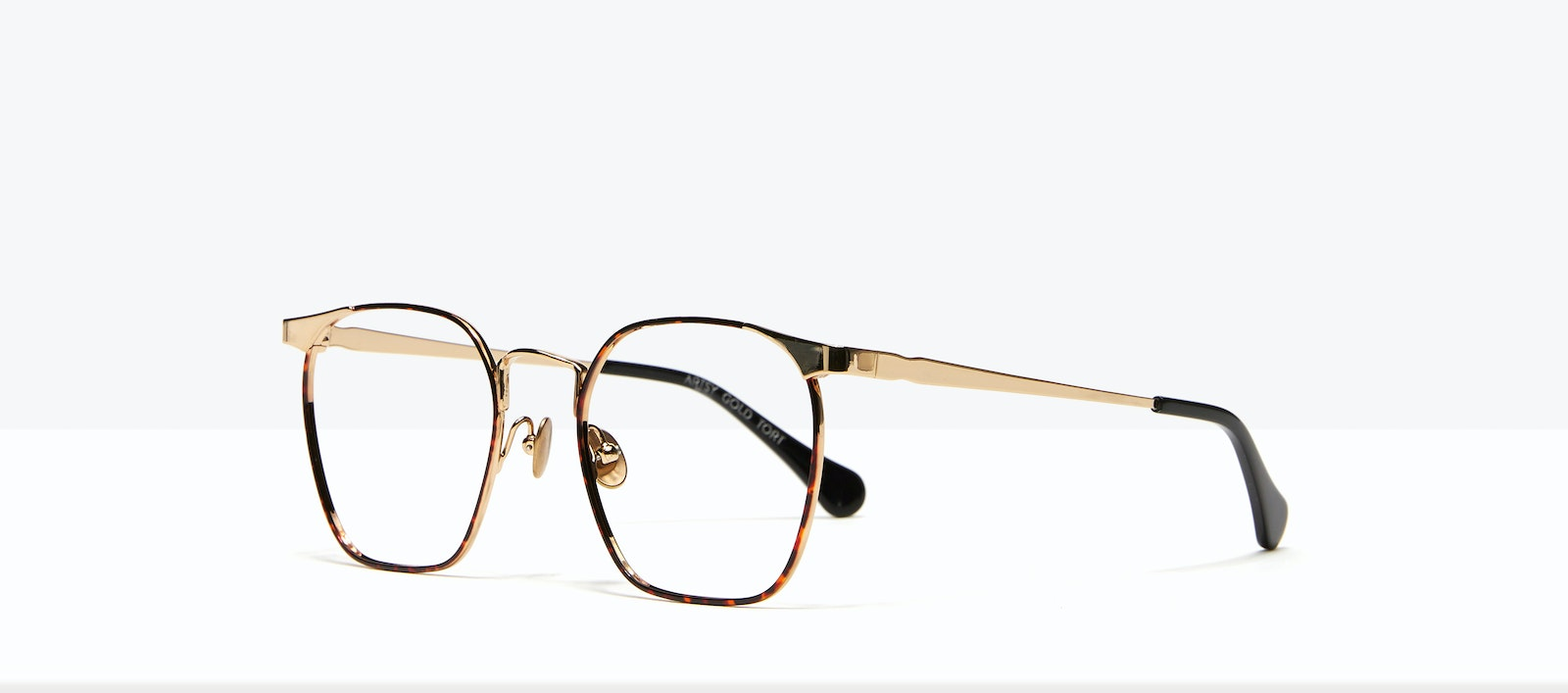 Affordable Fashion Glasses Square Eyeglasses Women Artsy Gold Tort Tilt
