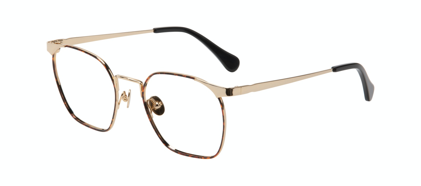 Affordable Fashion Glasses Square Eyeglasses Women Artsy Gold Tort Tilt