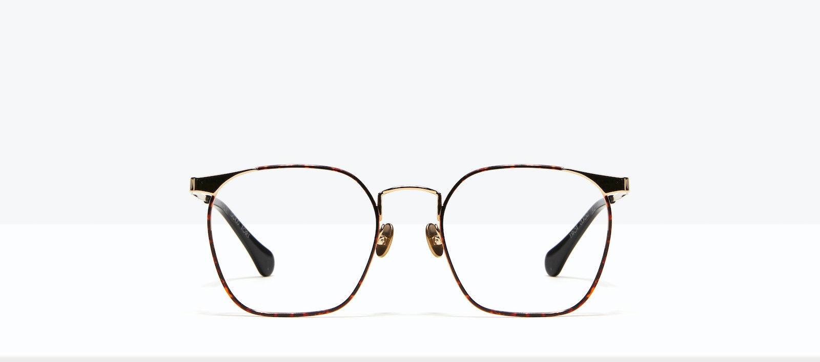 Affordable Fashion Glasses Square Eyeglasses Women Artsy Gold Tort Front