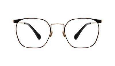Affordable Fashion Glasses Square Eyeglasses Women Artsy Gold Tort Front