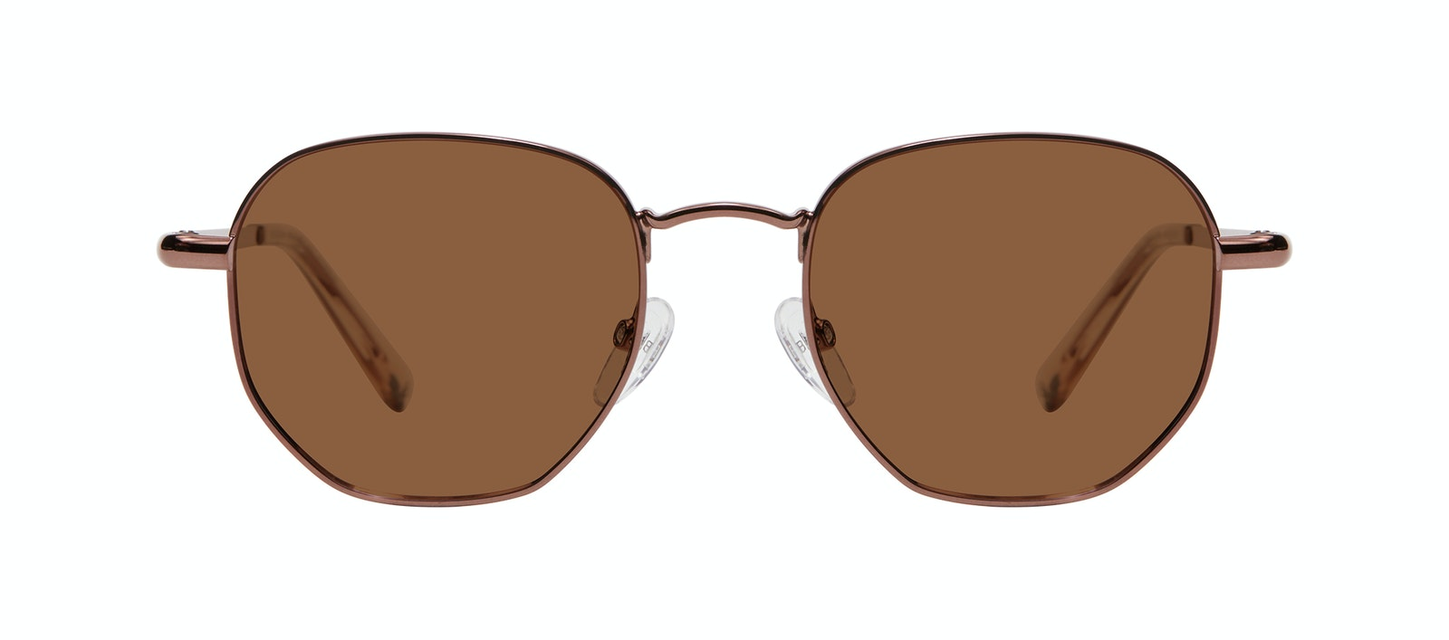 Affordable Fashion Glasses Round Sunglasses Women Aura Copper Front